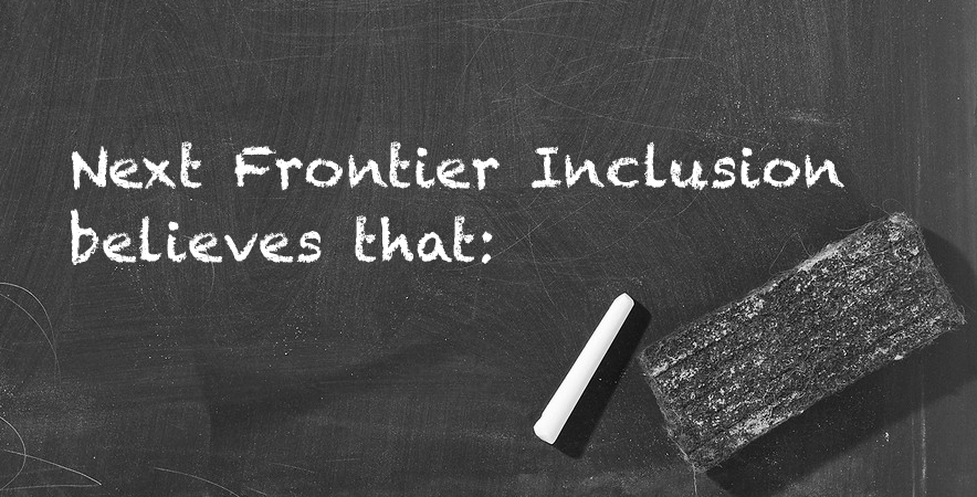 frontier of inclusion By a frontier of exclusion, what is meant, is settling in such a way as to keep the peoples coming into contact separate so that very little intermixing or meshing of cultures took place a frontier of inclusion can be defined as a great deal of intermixing and dealings between the races.